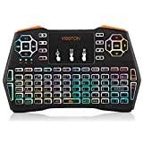 WaackGG Drahtlose MultifunktionTaschen-Tastatur Mini Tastatur, 2,4 GHz Drahtlose Fernbedienung Bunte Wireless Keyboard Tastaturlayout für PC/Tablet Google/Android /TV Box/Smart TV (7 Farben)