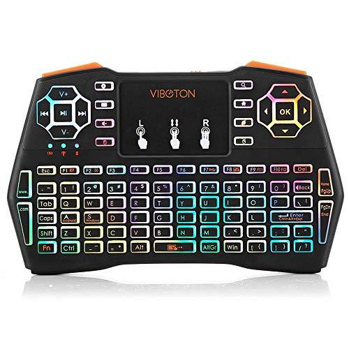Niocase Mini Wireless Keyboard, Palm Tastatur, Keyboard 2.4GPocket Wireless Tastatur Touch Control Smart Remote Multifunktions-Tastatur