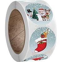 TOAOT Cadeau De Noël Étiquette Autocollant De Bande Dessinée Flocon De Neige Autocollant Décoratif Kraft Impression…