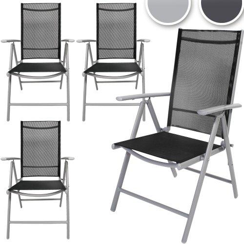 Produktabbildung von Miadomodo Gartenstuhl-Set Alustühle Klappstühle mehrfach neigbare Rückenlehne aus Aluminium mit Modell-, Farb- und Setwahl