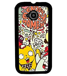 Fuson Premium Today I Am Sad Metal Printed with Hard Plastic Back Case Cover for Motorola Moto E (2nd Gen)