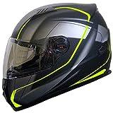 Integralhelm Helm Motorradhelm RALLOX 708 neon