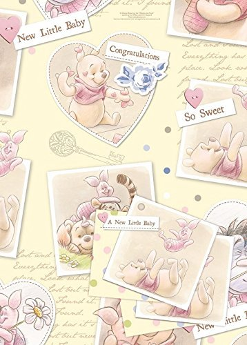 Disney Winnie The Pooh Gift Wrap (2 sheets 2 tags) by Winnie the Pooh