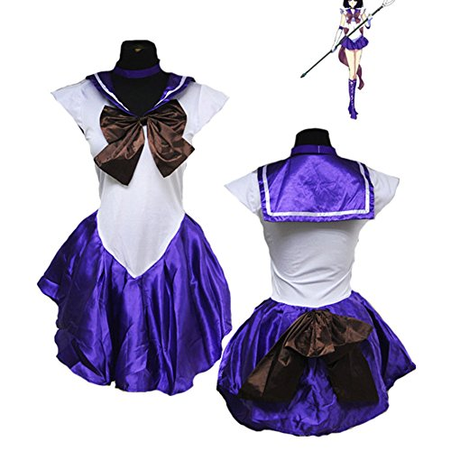 Yovvin Sailor Moon Cosplay Kostüm Sailor Moon Small Lady Sailor Mercury Sailor Mars Sailor Jupiter Sailor Venus Sailor Uranus Sailor Neptune Sailor Pluto Sailor Saturn Cosplay Uniform (M, Tomoe ()