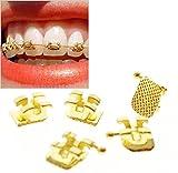 '1Set (20), Orthodontic Mini Roth 0.022Gold Bracket Hook 345Orthodontic Zahnbürste Treatment Dentist Orthodontist