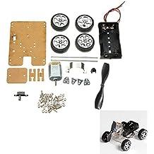 Rishil World DIY Mini Wind Car 130 Brush Smart Robot Car Kit