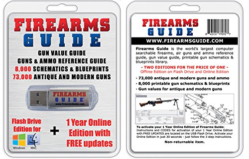 Firearms Guide 8th Edition USB Flash & Online Combo - Largest gun book in the world Shooting Guide