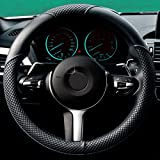 Calcifer Hohe Qualität Elegant Vier Saison Universal Anti-Rutsch Leder Auto Lenkrad Bezug, # su009