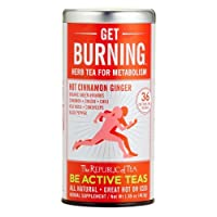 The Republic Of Tea Be Active Green Rooibos Tea Get Burning - Herb Tea For Metabolism, 36 Tea Bags