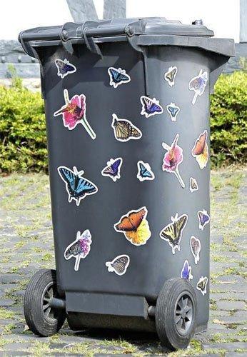 *Mülleimer Mülltonnen Aufkleber Mülltonnenaufkleber Schmetterlinge 22tlg.*