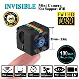 HankerMall Mini Camera Sports HD DV Camera 1080P Portable Tiny Video Camera with IR Night Vision & Motion Detection, Small Surveillance Camera for Home Office