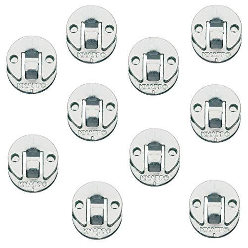 Gedotec Blenden-Verbinder Möbelverbinder zum Schrauben Verbindungsbeschlag aus Metall | DUO 30 ml | Einhänge-Verbinder für Treppen & Verkleidungen uvm. | 10 Paar - Einhhängebeschlag für Möbel & Betten