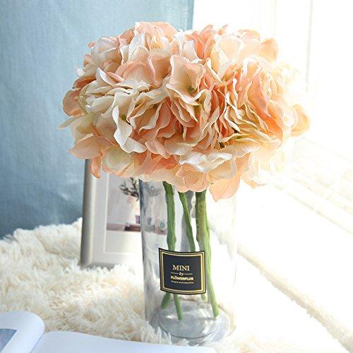 MDenker Wohnaccessoires & Deko Kosmos,Hortensie Pfingstrose Bouquet Kunstblume Kunstblume MW52333 Weiß, Grün, Champagner, Tiefes Pulver