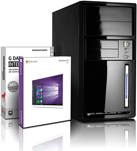 Flüster-PC AMD Quad-Core Office/Multimedia shinobee PC Computer mit 3 Jahren Garantie! inkl. Windows10 Professional – AMD Athlon Quad Core 4×2.05 GHz, 8GB RAM, 1000GB HDD, AMD Radeon HD 8400, USB 3.0, HDMI, VGA, Office #5239
