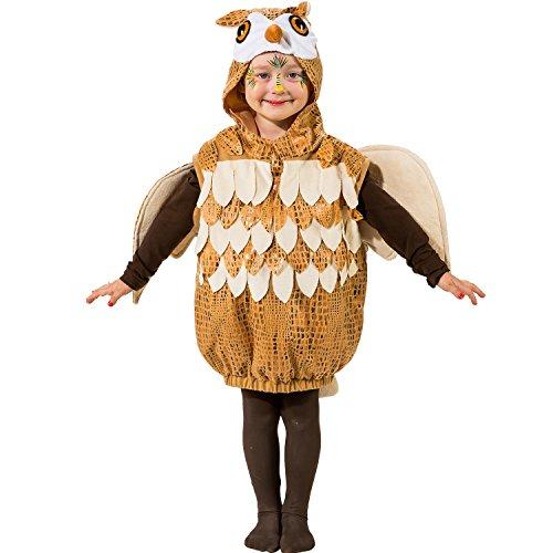 Unbekannt Tier Kostüm für Kinder Gr. 104 Eule zur Auswahl Fasching Karneval