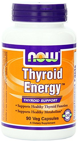 now foods, tiroide energia, tiroide supporto, cappucci 90 veggie