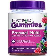 Natrol - Gomitas multi prenatales 85% Berry, cereza y uva ecológicas - 90Gomitas