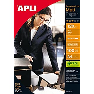 APLI 04133 MATT Quality 120 GR. 100 A4 Druckerpapier