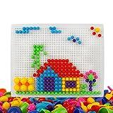 TONZE Mosaik Steckspiel mit 2 Steckbrett für Kinder Jungen Mädchen 3 4 5 Jahre alt