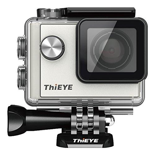 ThiEYE Action Cam Full HD Actionkamera Wifi 12MP 1080P 60fps Sport Kamera 1.5 Zoll 40M Wasserdichte Helmkamera mit 1085mAh Aufladbare Batterie 152° Weitwinkel