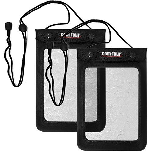 Süden Kurze Tasche (com-four® 2X wasserdichte Schutzhülle - staubdichte Hülle für Tablet und E-Book-Reader - Schutztasche in schwarz - 9,4