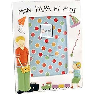 "Cadre photo ""Mon papa et moi"" gar?on 10x15cm"