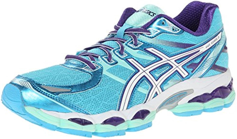 Zapato de running Gel-Evate 3 para mujer, turquesa / blanco / morado, 6.5 M EE. UU.