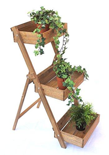DanDiBo Blumentreppe Fiora aus Holz 90 cm Blumenständer Pflanzentreppe Blumenregal Regal -