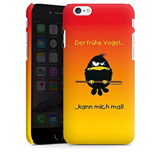 Apple iPhone X Silikon Hülle Case Schutzhülle Der frühe Vogel lustig humor Premium Case matt