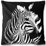 Bestlivings Dekokissen Fotodruck Motiv in 40x40 cm, Flauschig weiches Kissen in vielen Motiven erhältlich (Design: Zebra)
