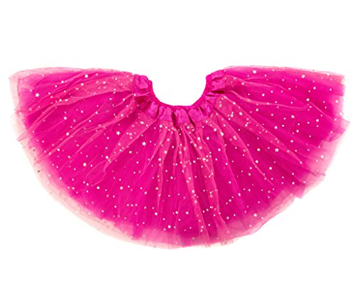 ck Tutu Ballettrock Glitzer Sterne Pink (Passende Kostüme Für Die Familie)