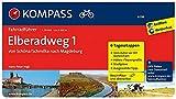 KOMPASS Fahrradführer Elberadweg 1, Von Schöna/Schmilka nach Magdeburg: Fahrradführer mit Routenkarten im optimalen Maßstab.: Fietsgids 1:50 000