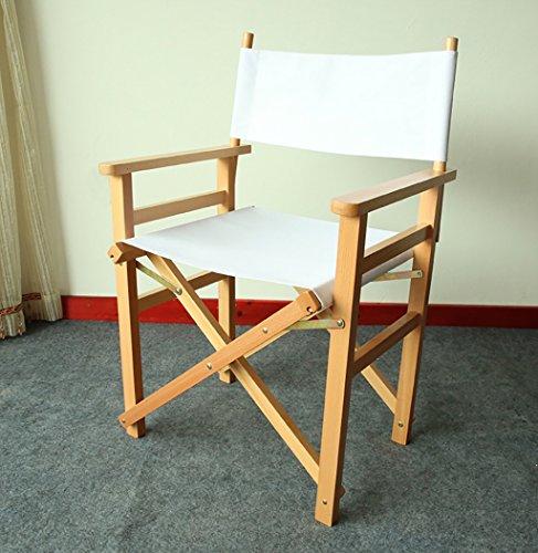 DCCYZ-YJ Folding ULM Director\'s Chair - Made in China - Außenmöbel (Farbe : Weiß)