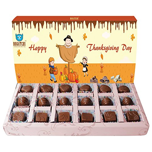 BOGATCHI THANK YOU CHOCOLATE BOX, 15% DARK CHOCOLATES WITH PEANUTS, CORNFLAKES AND BUTTER SCOTCH, 180 G