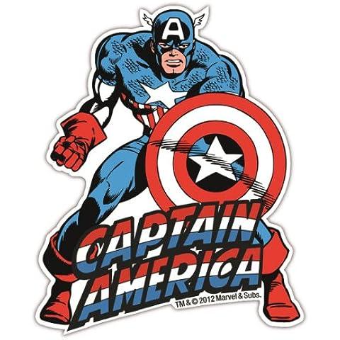 Magnete frigo Captain America - Magnete frigorifero Marvel Comics - magnet Supereroe - a forma - design originale concesso su licenza - LOGOSHIRT - America Del Magnete