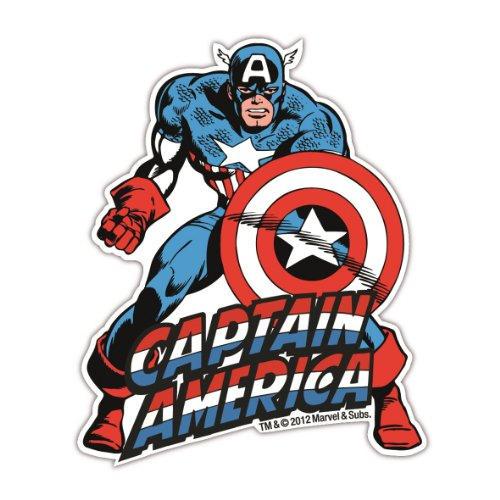 Magnet Captain America Marvel Comics - Kühlschrankmagnet - Lizenziertes Originaldesign - LOGOSHIRT