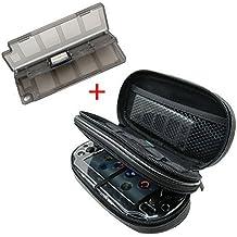 Teckone All-in-one Doppelfach Tragen Reise Fall Tasche Case Für Sony Playstation Vita PSVITA PS Vita 1000 und PS Vita Slim PSV 2000 mit Ladekabel/Game Cards