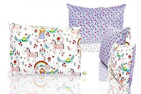 La Petite Unique | oreiller pour enfants avec différents motifs du monde des animaux | décoration adaptée aux enfants | 35 cm x 25 cm | oreiller lavable | 100% non-toxique| licorne