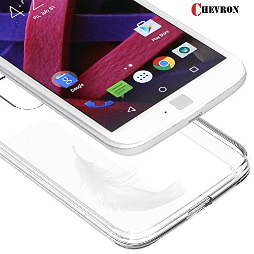 Chevron Motorola Moto G4 Plus [Crystal Clear] Ultra[Slim Thin][Anti-Scratches]Flexible TPU Gel Rubber Soft Skin Silicone Protective Case Cover for Motorola Moto G4 Plus(2016)-Clear  available at amazon for Rs.129