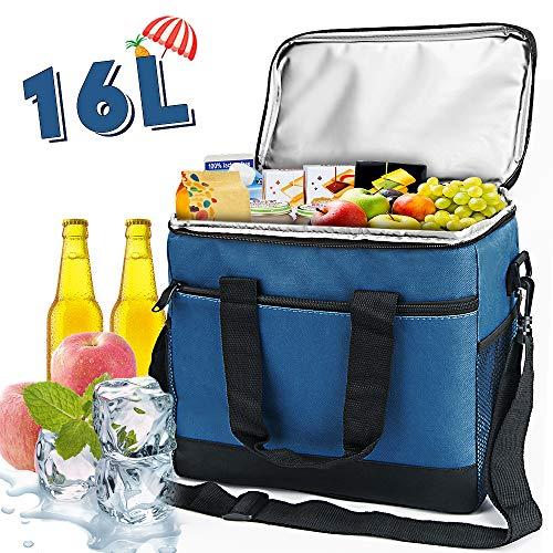 VANWALK Kühltasche Picknicktasche Lunchtasche Thermotasche Oxford-Tuch 16L wasserdichte für Camping Strand Reisen Kind Arbeit