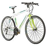 Bikesport Tempo Race 28 Ibrida Unisex, Weiß, XL