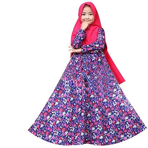 by-Kinder mädchen Ramadan moslemisches Abaya Dubai Robe-Kleid der traditionellen Kleidung ()