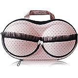 Combinaison de vie de soutien-gorge sous-vêtements Lingerie Organiseur de rangement Housse de protection portable pour Voyage, Rose, 32*17*8cm