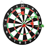 Slyk Dart Board Set 15' (Round Metal Wiring) ,Double Sided With 6 Metal Darts