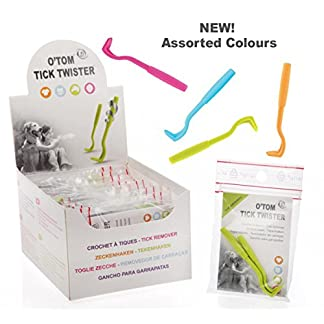 O'Tom Tick Twister – NEW COLOURS – Select colour/pack size. Tick Removers for Pet or Human Use 51YPB7rS4qL