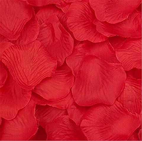 Liroyal pétales de rose rouges en forme de cœur, rouge, 3 bags