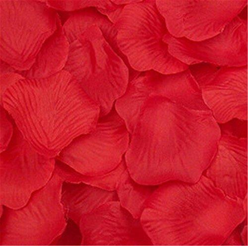 Liroyal a forma di cuore, motivo: petali di rosa rossa, Rosso, 3 bags