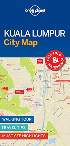 Kuala Lumpur City Map - 1ed - Anglais par Lonely Planet LONELY PLANET