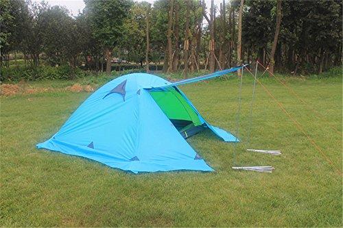 HONEYY Mât en Aluminium Ultra-léger Double Double-Neige Pluie Outdoor Camping Alpinisme Professionnel quatrième Trimestre tentes 210 * 150 * 110 cm