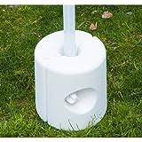 Outsunny-4PC, Tenda Peso Rapid Clip Gazebo Piedi da riempire con Acqua o Sabbia Bianco